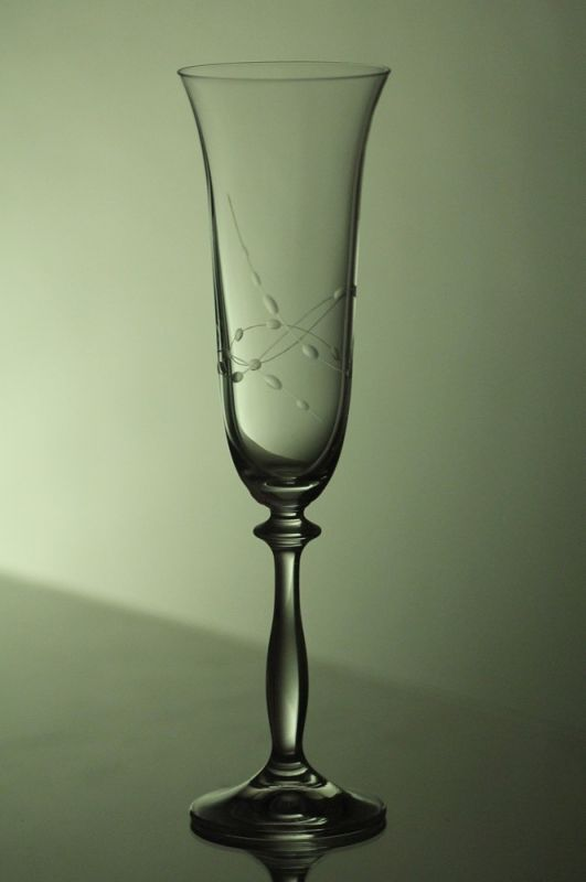 skleničky na sekt 2ks Angela 190ml,sklenice s rytinou korale, dárek k narozeninám