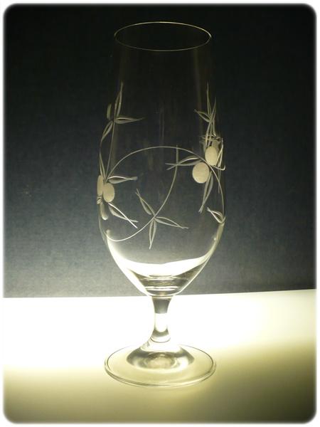 sklenice na pivo 2ks Lara 380ml,skleničky s rytinou - bobule,dárek pro muže