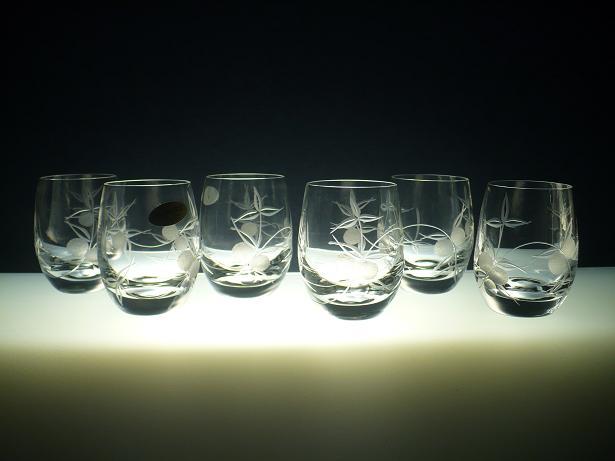 skleničky na likér nebo slivovici 6ks Club 60 ml s rytinou bobule, dárek pro muže