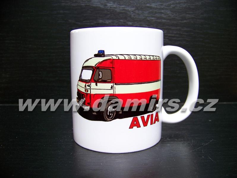 hrnek s motivem hasičská Avia Furgon