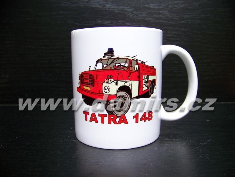hrnek s motivem hasičská Tatra 148