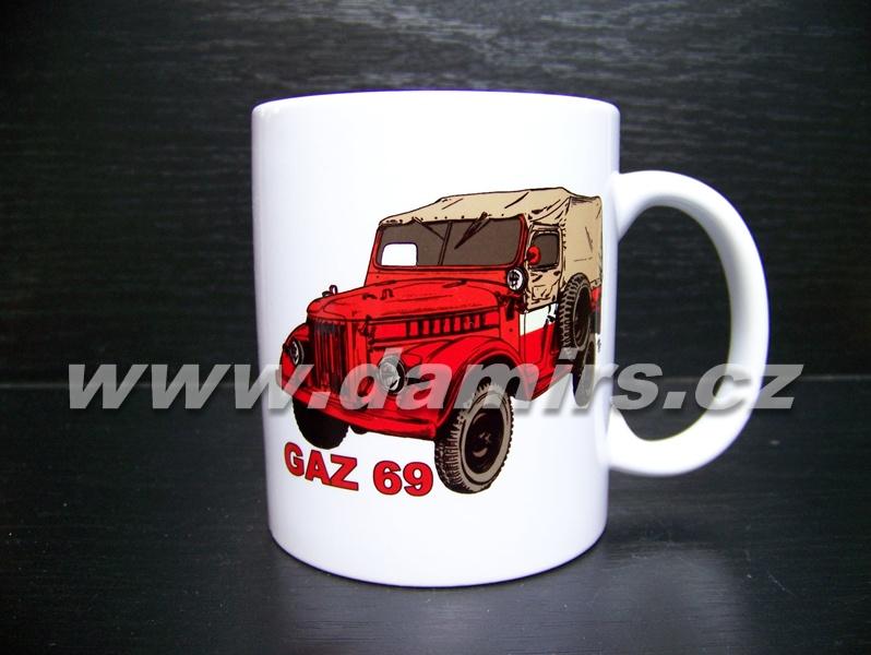 hrnek s motivem hasičský Gaz 69
