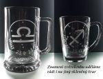 Dárková sklenice na víno. Znamení zvěrokruhu. Lev 23.7.-22.8.
